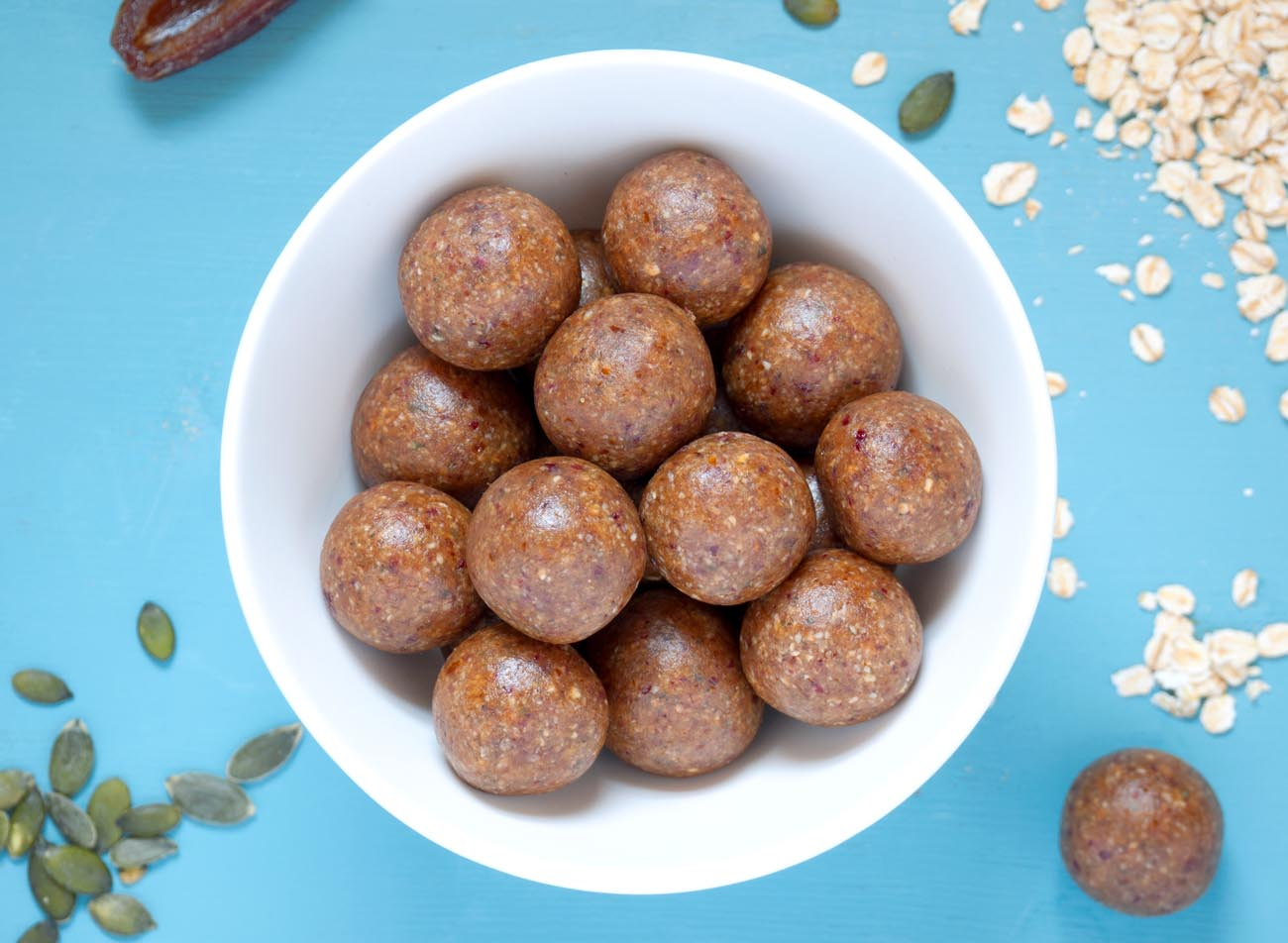 Oat & Date Power Bites - thelastfoodblog.com