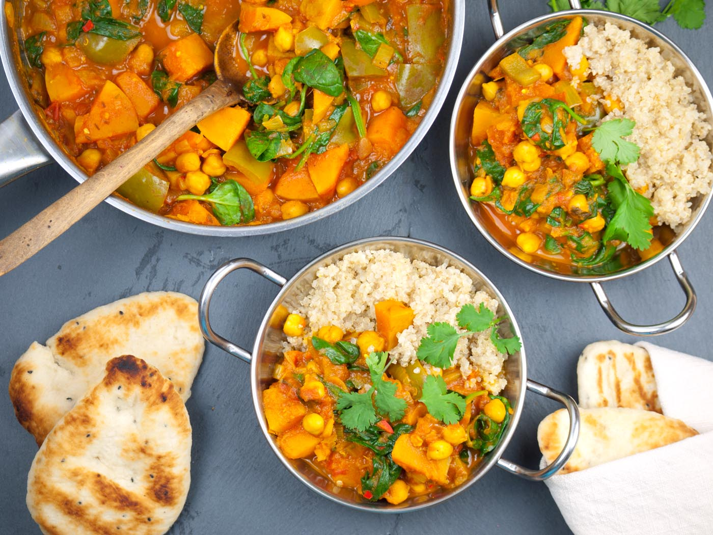 Butternut Squash & Chickpea Curry - thelastfoodblog.com