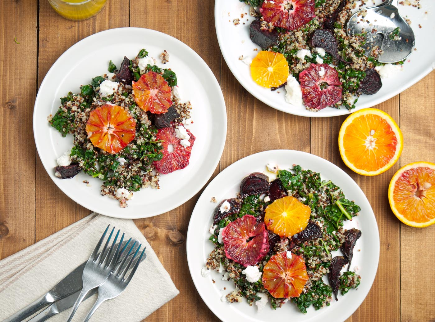 Kale, Blood Orange, Beetroot & Quinoa Salad
