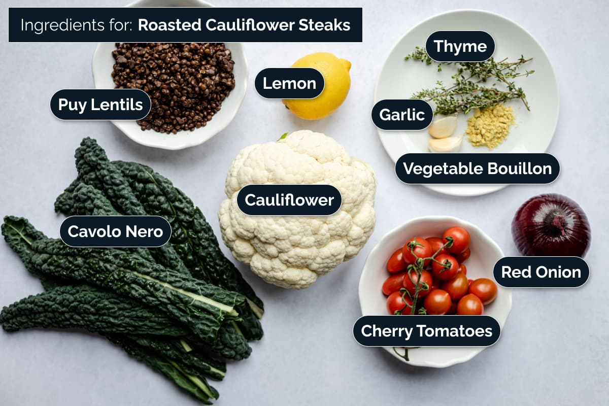 Ingredients for this cauliflower recipe