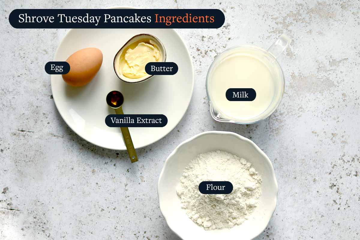 Shrove Tuesday Pancake Ingredients