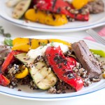 Steak with Mediterranean Vegetables & Quinoa - thelastfoodblog.com