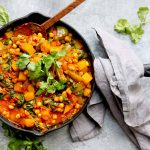 Butternut squash, chickpeas with coriander