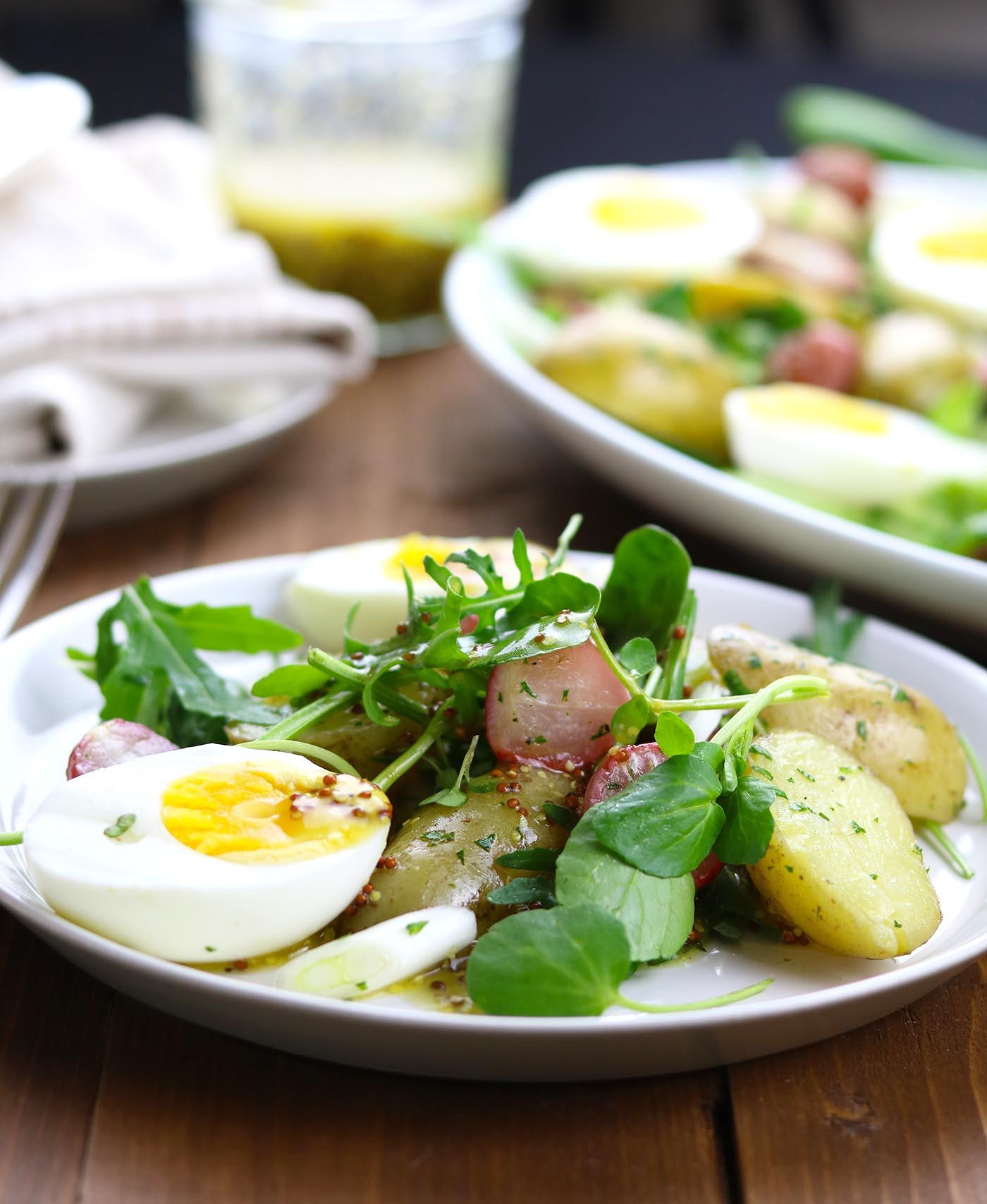 Roasted Radish, Potato & Egg Salad - thelastfoodblog.com