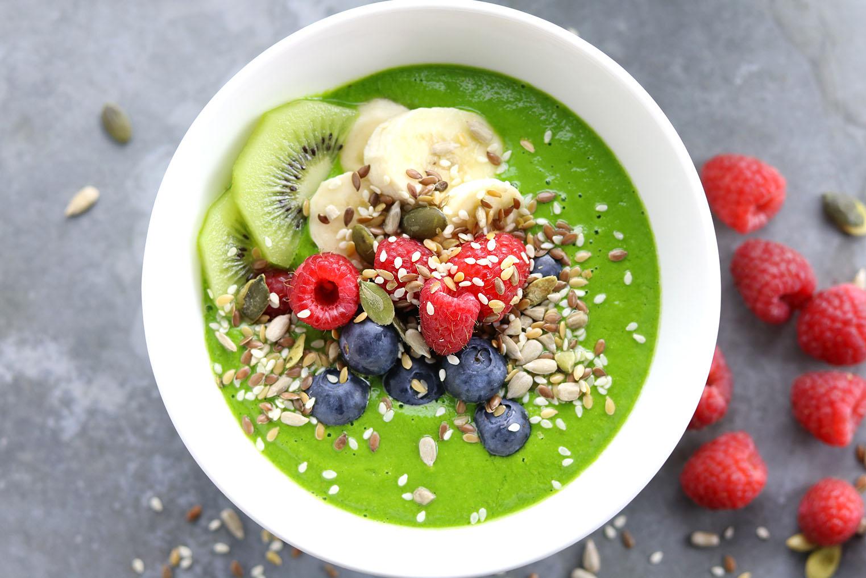 Green Smoothy Bowls - thelastfoodblog.com