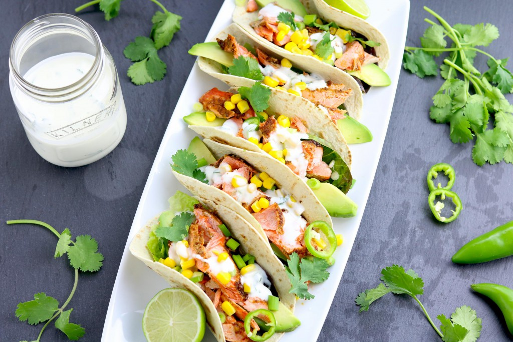 Grilled Salmon Tacos - thelastfoodblog.com