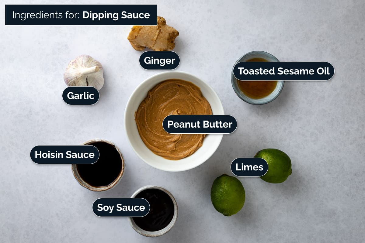 Ingredients for making a dipping sauce