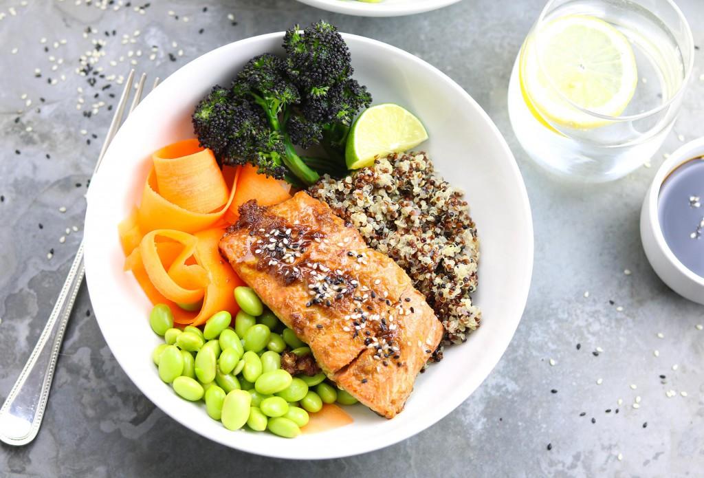 Ginger Salmon Nourish Bowls