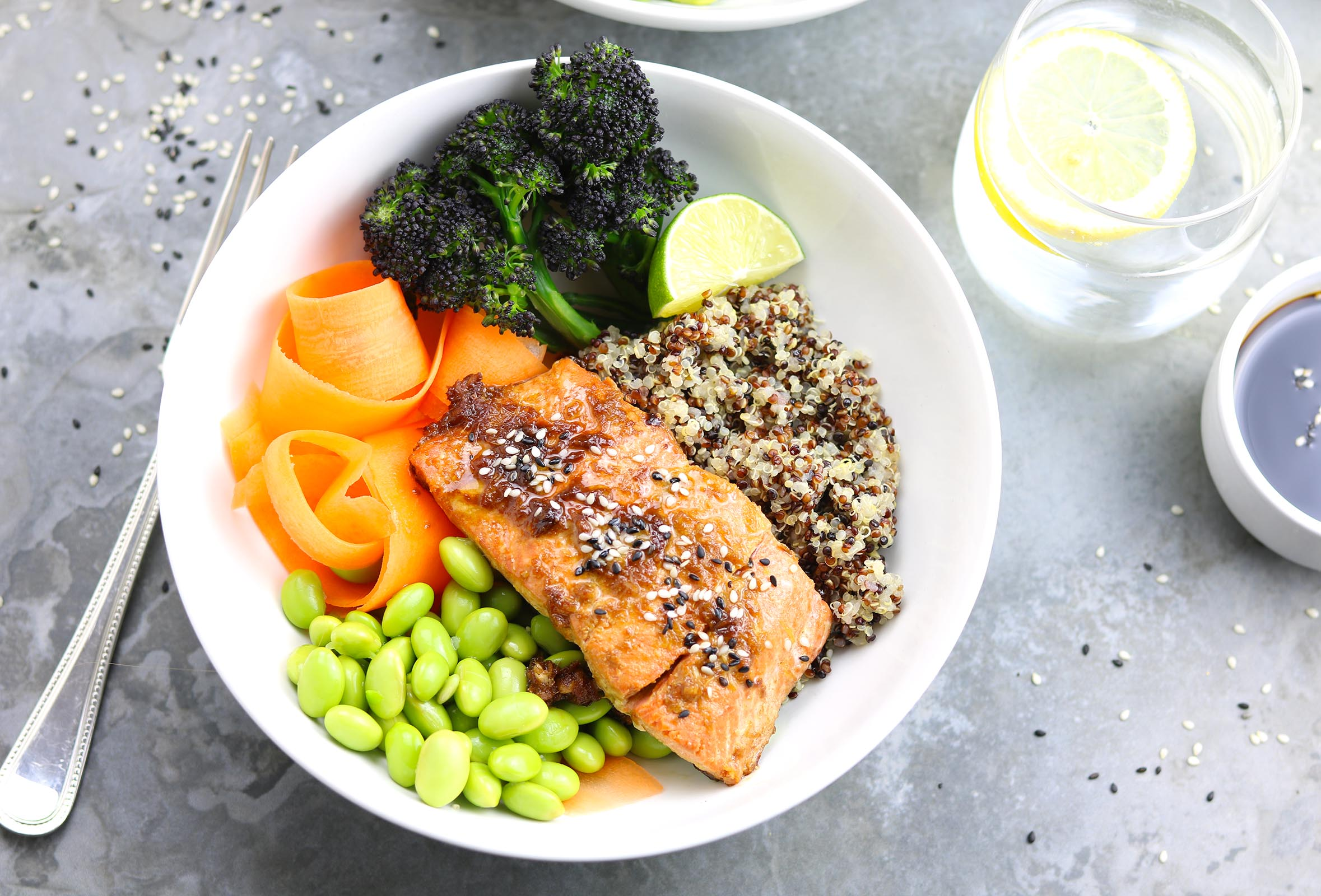 Ginger Salmon Nourish Bowls