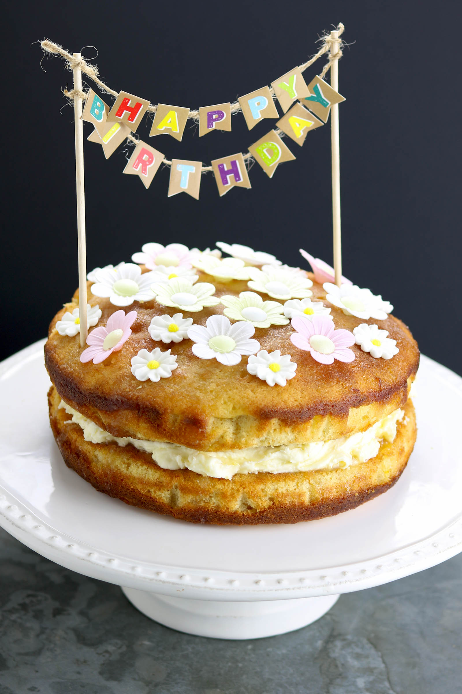 Prime Lemon Drizzle Birthday Cake The Last Food Blog Funny Birthday Cards Online Fluifree Goldxyz