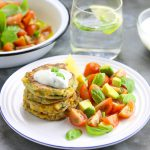 Spiced Courgette & Sweetcorn Fritters - thelastfoodblog.com