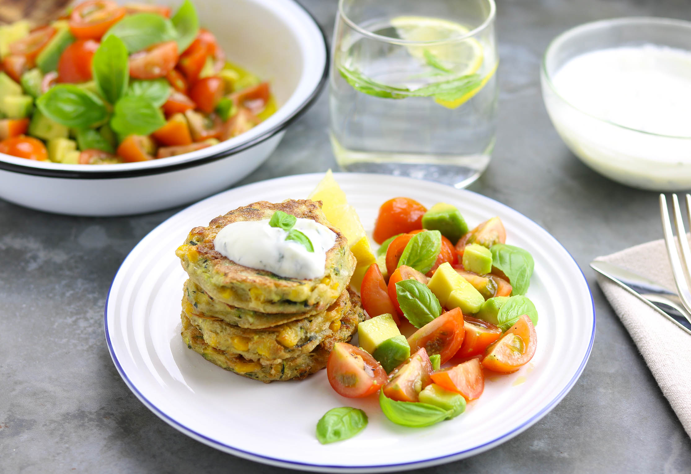 Spiced Courgette & Sweetcorn Fritters