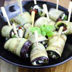 Aubergine Rolls with Feta & Sun Dried Tomatoes - thelastfoodblog.com