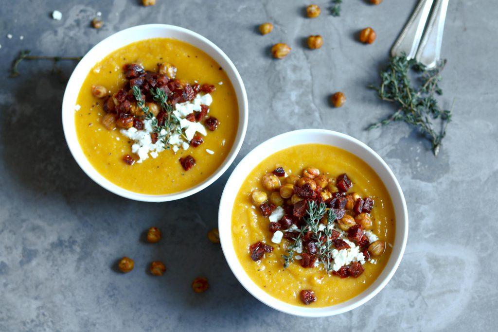 Roast Butternut Squash & Parsnip Soup - thelastfoodblog.com