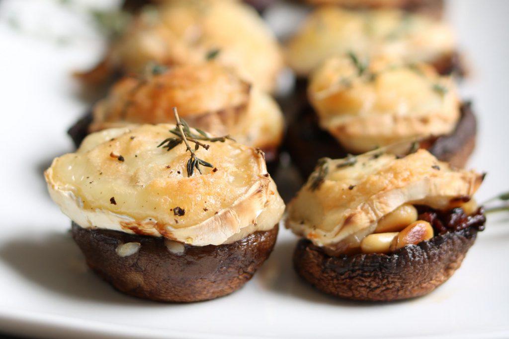 Stuffed Mini Portobello Mushrooms