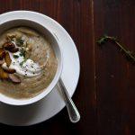 Roast Celeriac & Parsnip Soup with Chestnuts - thelastfoodblog.com