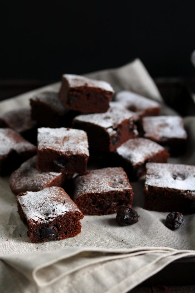Black Cherry Chocolate Brownies - www.thelastfoodblog.com