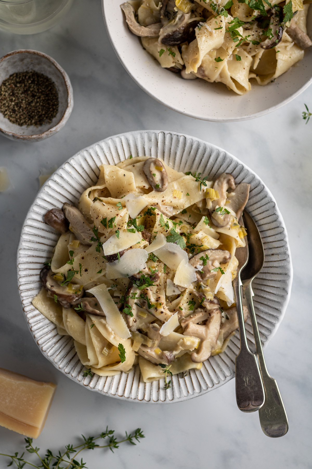 Creamy Mushroom And Leek Pasta The Last Food Blog