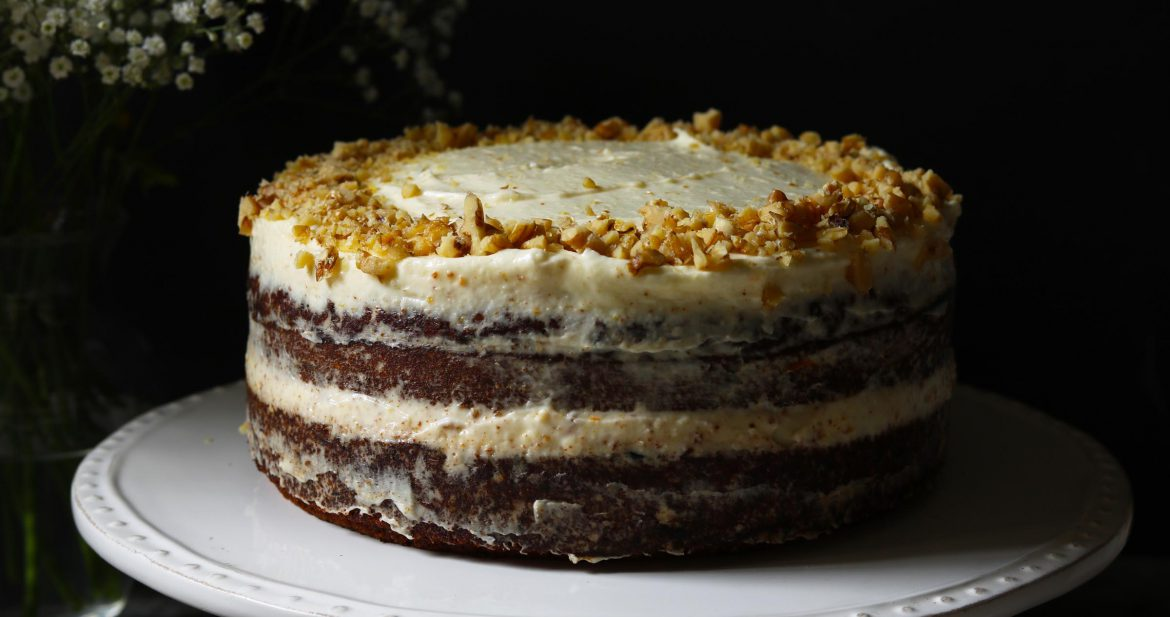 Carrot Cake with Orange Cream Cheese Frosting - www.thelastfoodblog.com