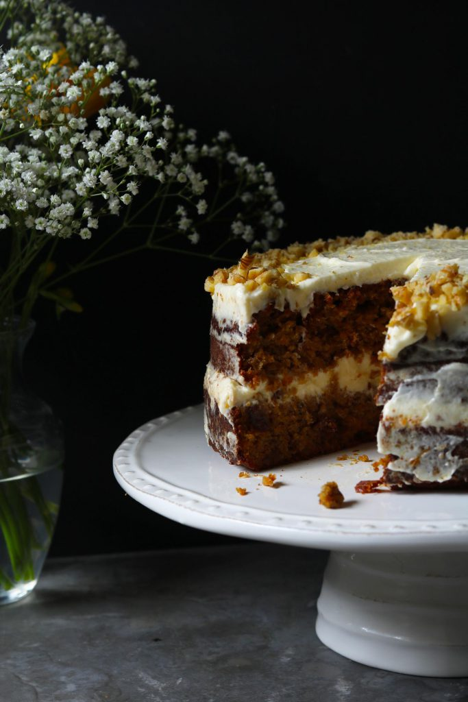 Carrot Cake with Orange Cream - www.thelastfoodblog.com