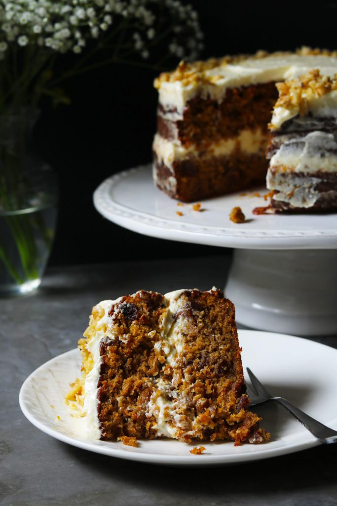 Carrot Cake with Orange Cream - www.thelastfoodblog.com