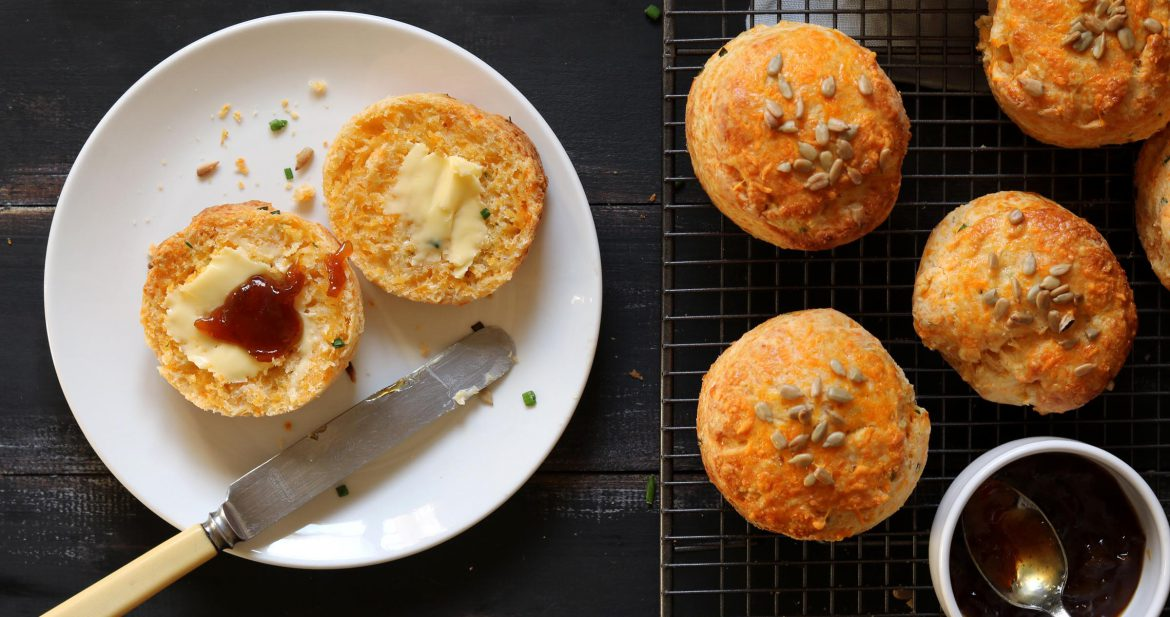 Cheese Scones with Chives - www.thelastfoodblog.com