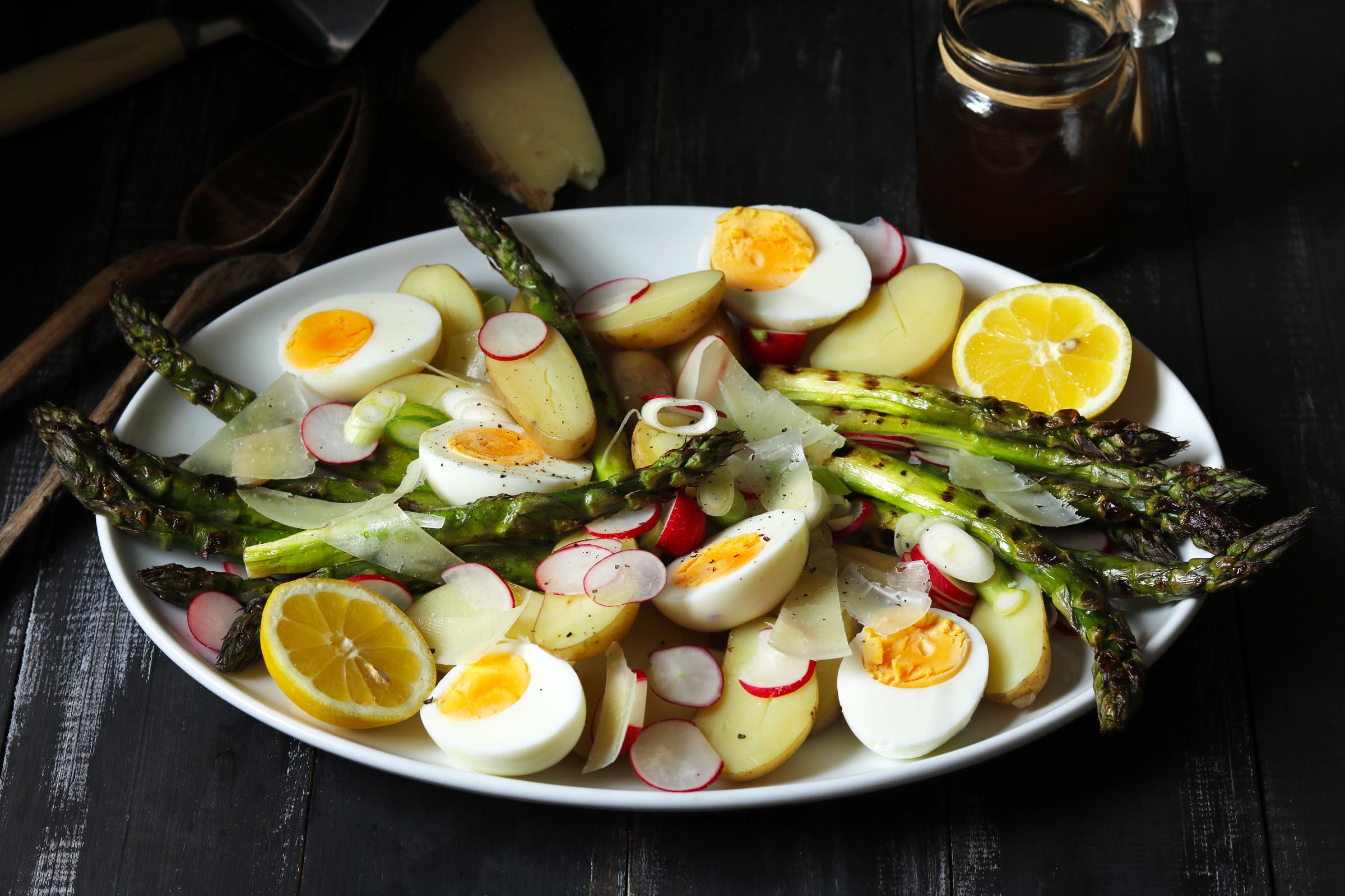 Chargrilled Asparagus Salad with Balsamic Vinaigrette