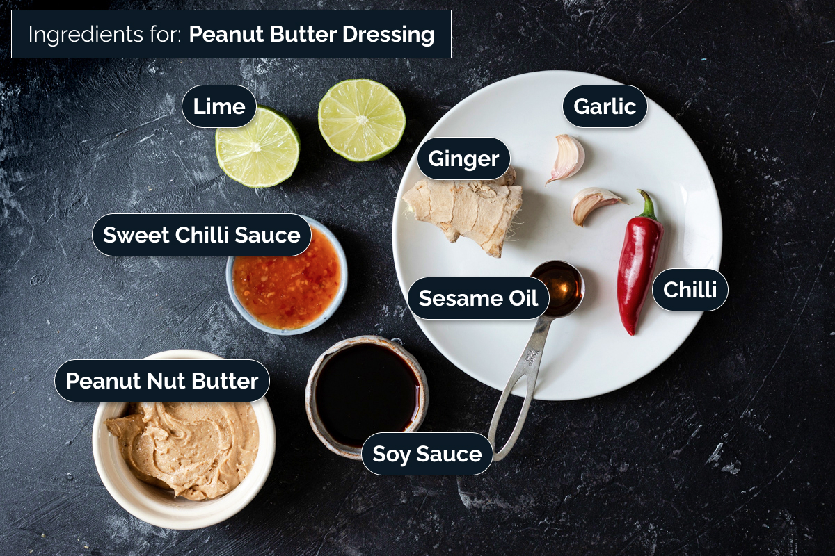 Ingredients for peanut dressing
