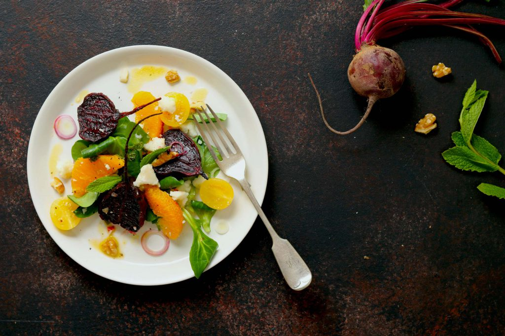 Roasted Beetroot Salad with Orange & Goat's Cheese