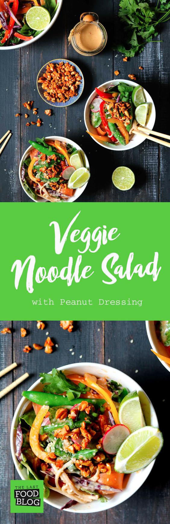 Veggie Noodle Salad - thelastfoodblog.com