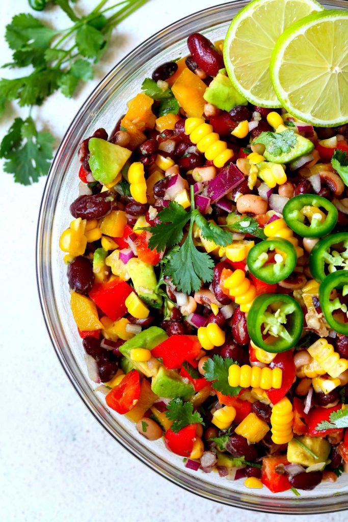 Mexican Bean Salad - thelastfoodblog.com