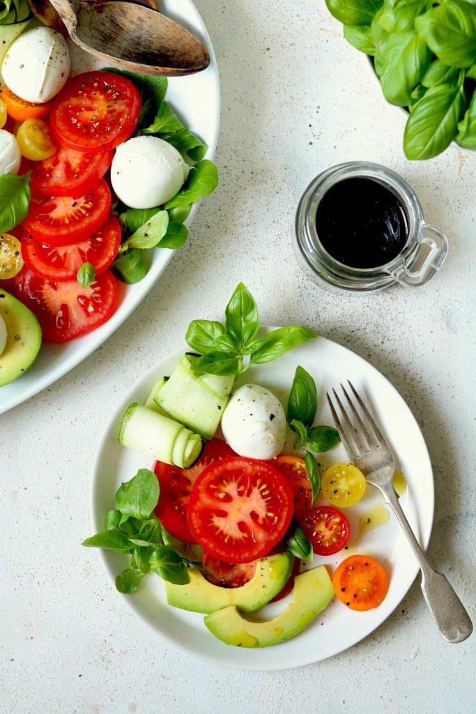 Caprese Salad with Avocado - thelastfoodblog.com