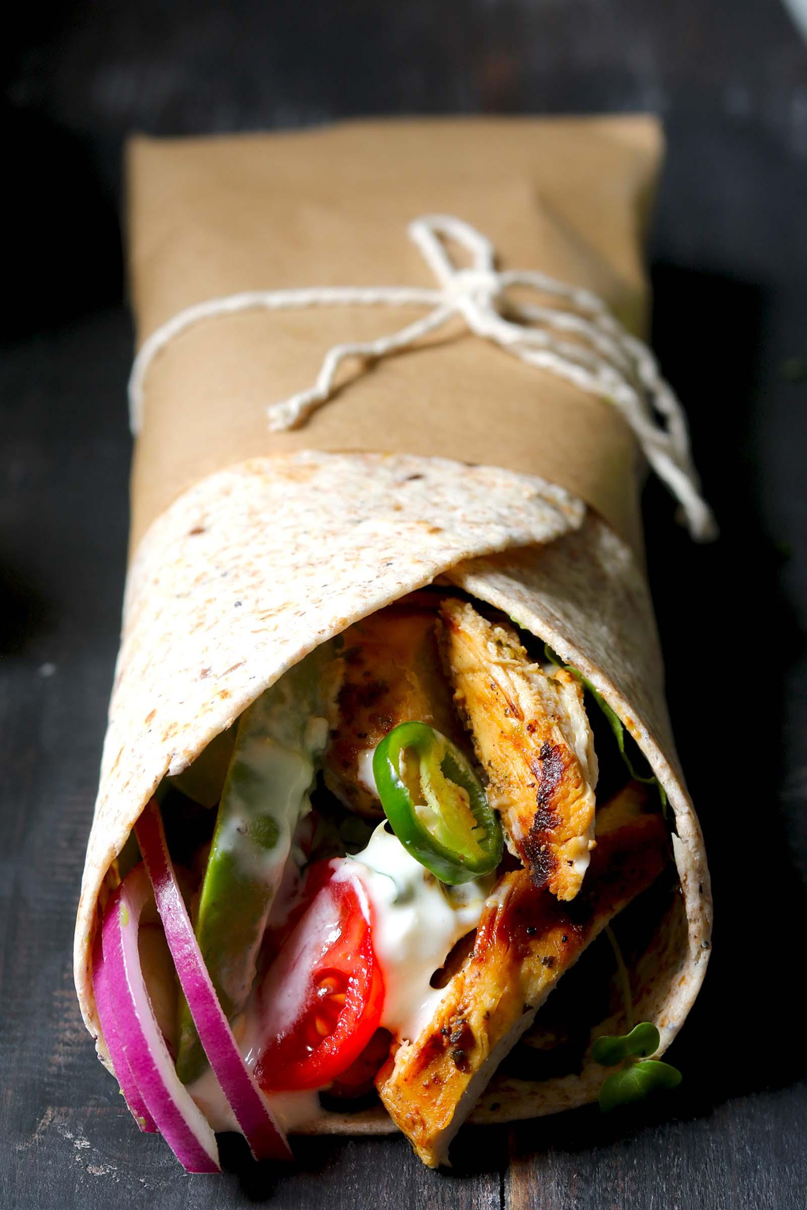 Chicken Wrap - thelastfoodblog.com