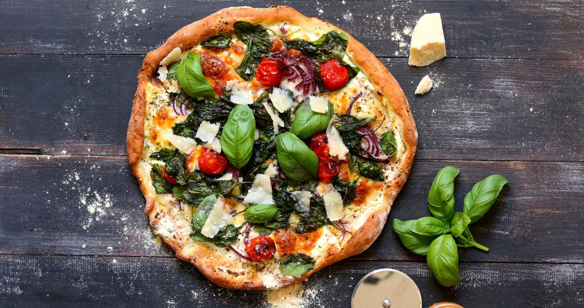 White Pizza with Spinach & Ricotta - thelastfoodblog.com