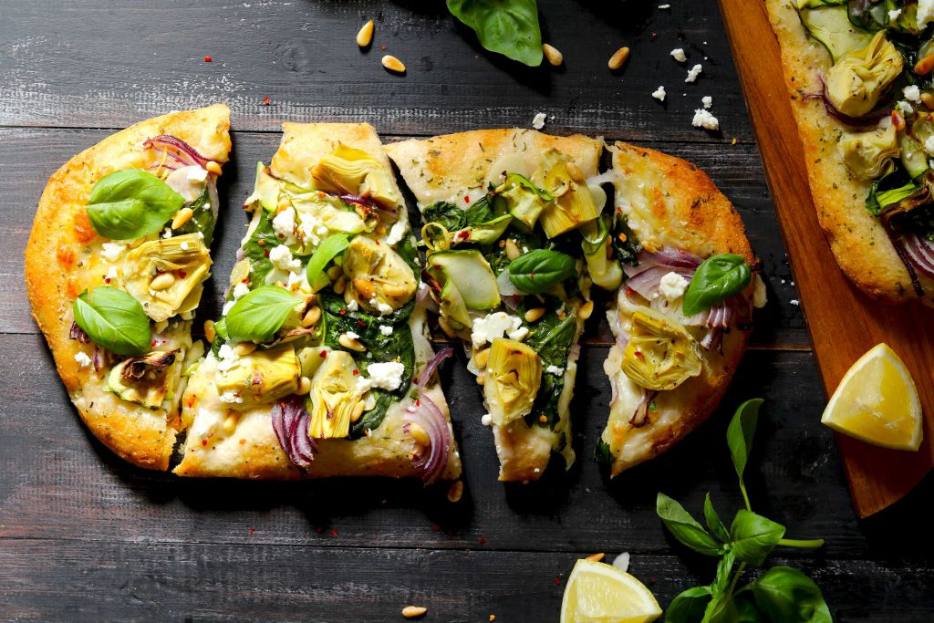Artichoke & Spinach Flatbread Pizza