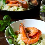 King Prawn Risotto with Peas & Courgettes - thelastfoodblog.com