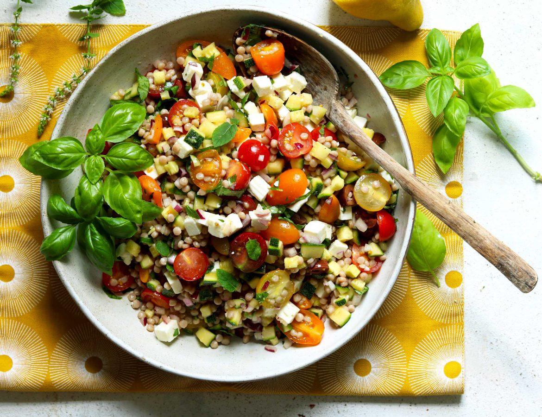 Mediterranean Couscous Salad - thelastfoodblog.com