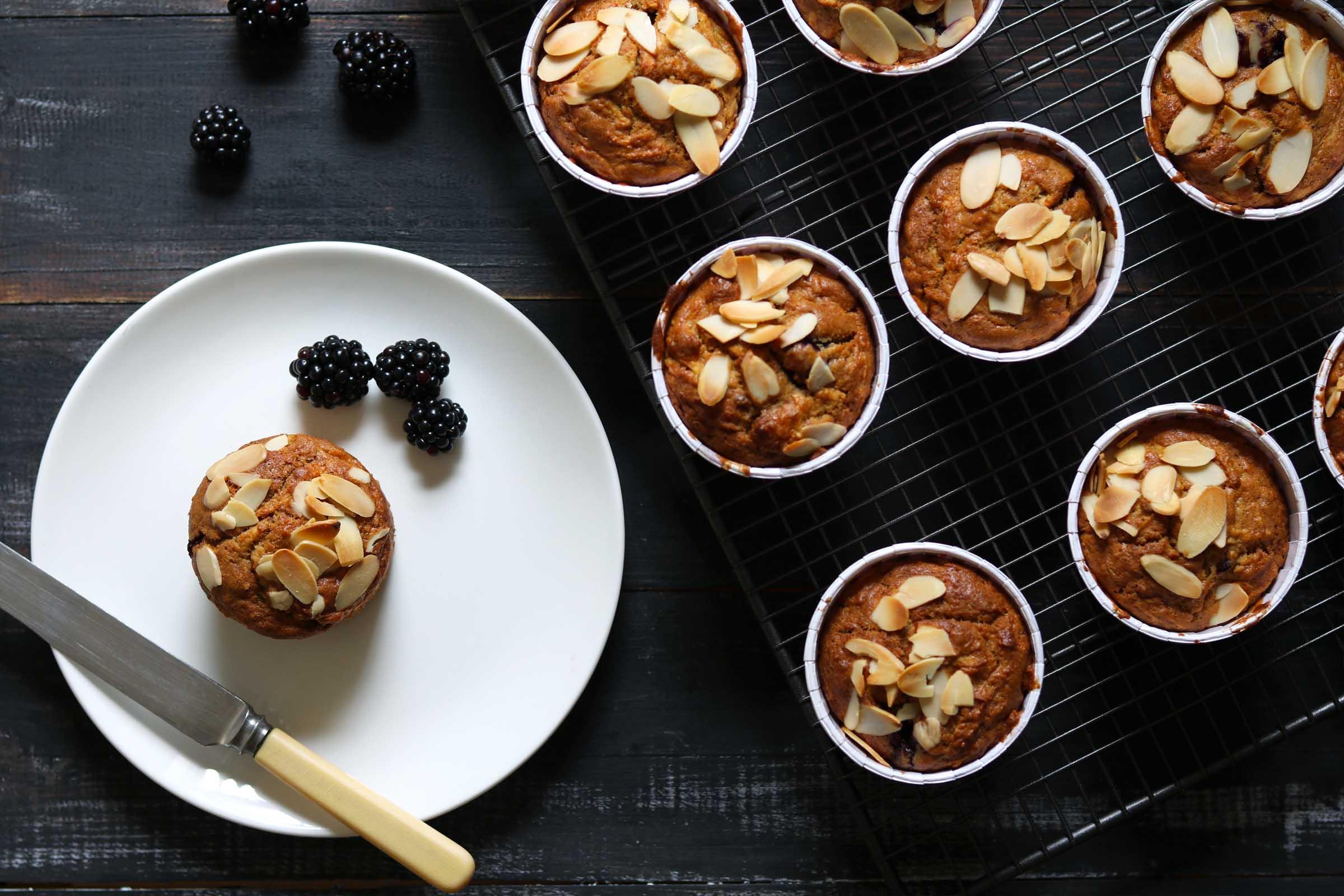 Apple & Blackberry Muffins - The Last Food Blog