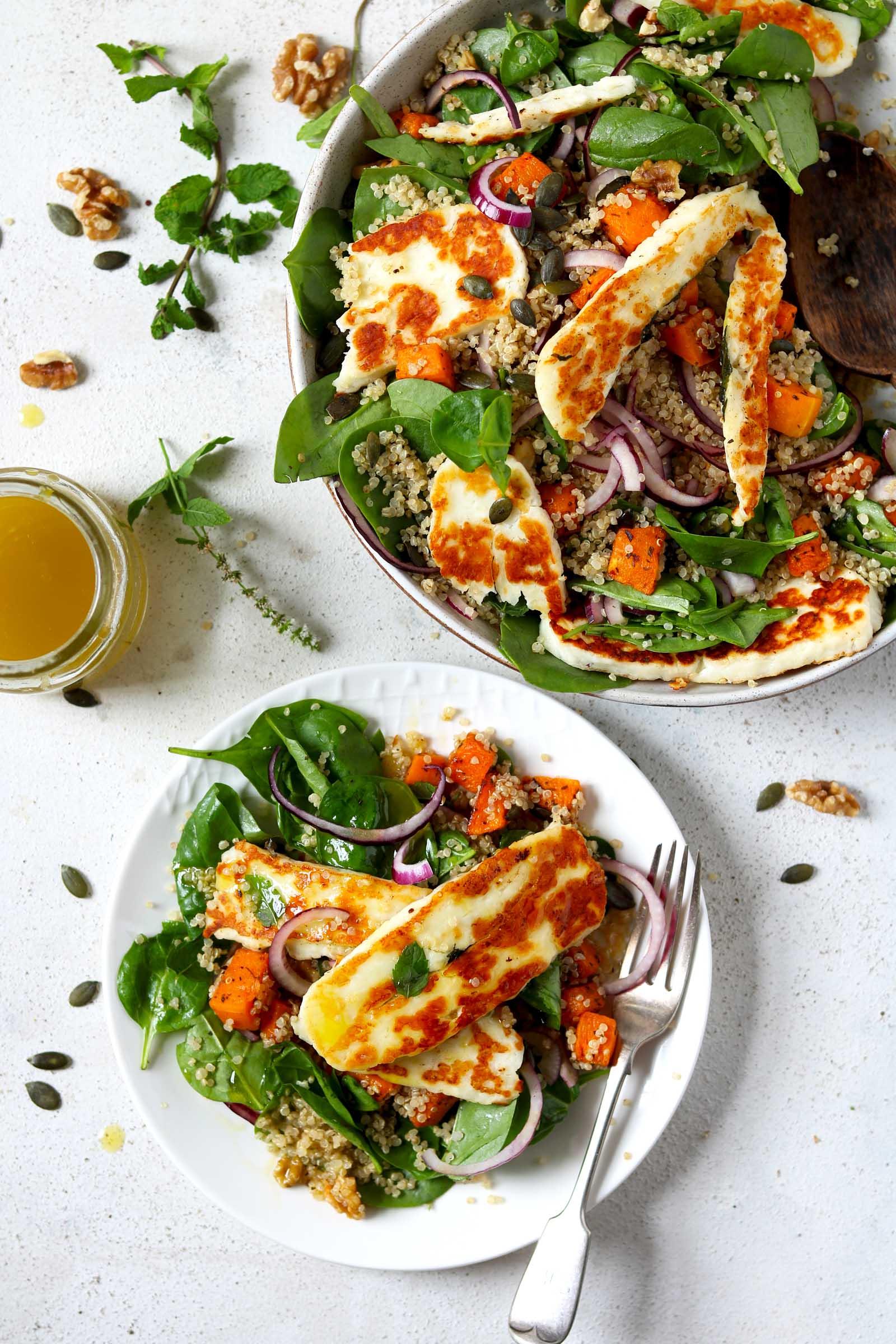 Halloumi Salad with Butternut Squash & Quinoa - The Last ...