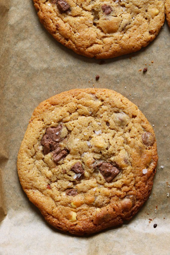 Peanut Butter Chocolate Chip Cookies - thelastfoodblog.com