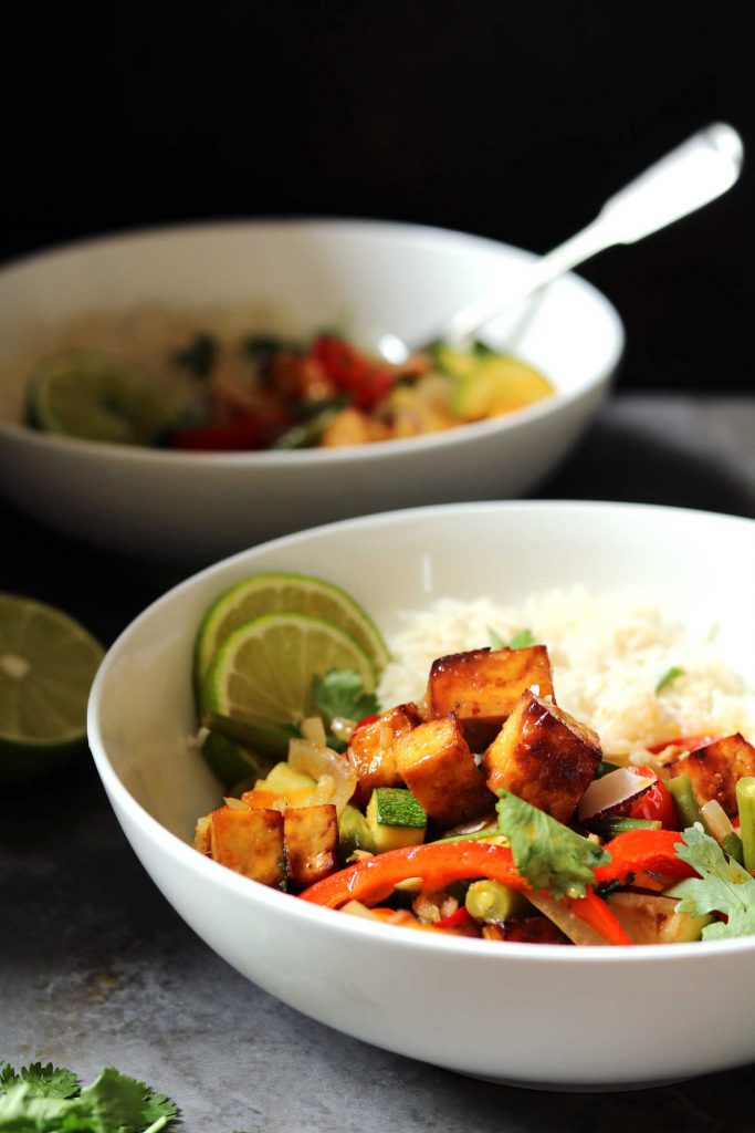 Thai Red Curry with Veggies & Crispy Tofu – thelastfoodblog.com
