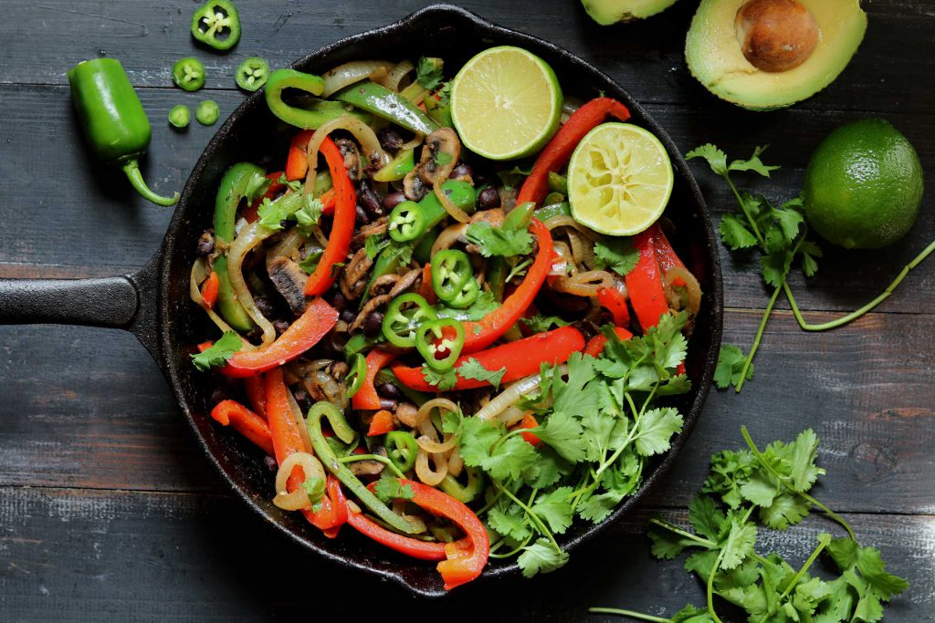 Vegetable Fajitas with Black Beans - thelastfoodblog.com
