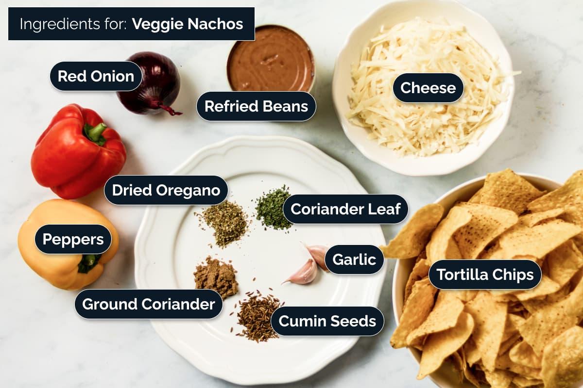 Veggie Nachos Ingredients
