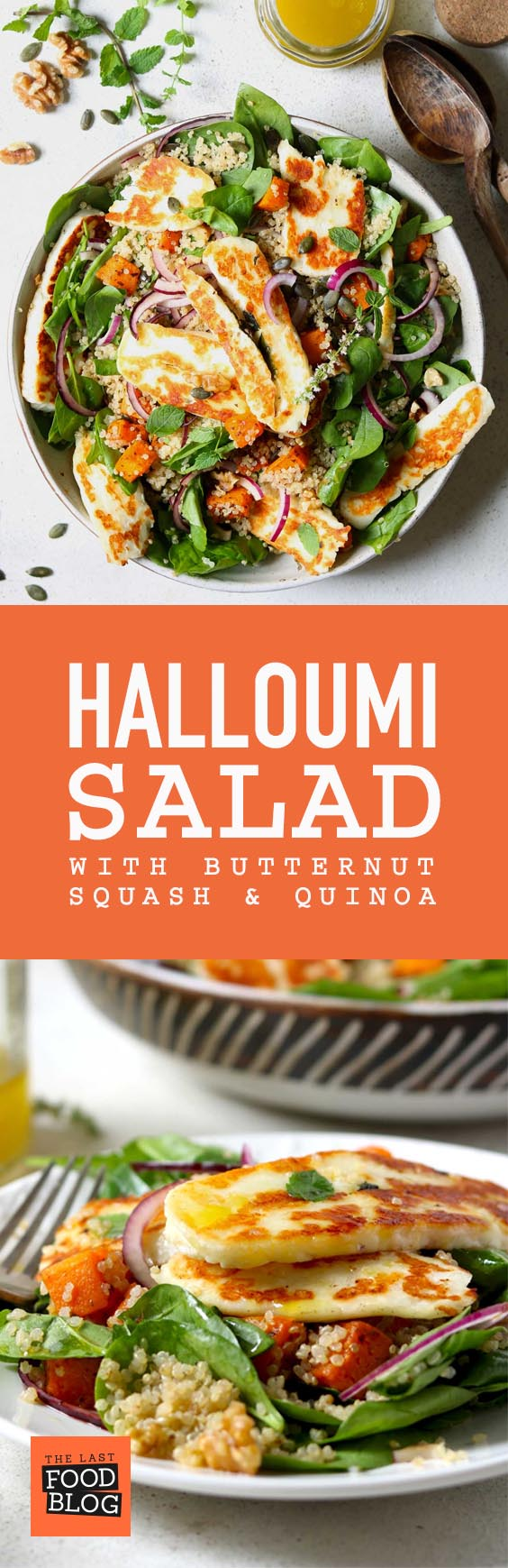 Halloumi Salad with Butternut Squash & Quinoa