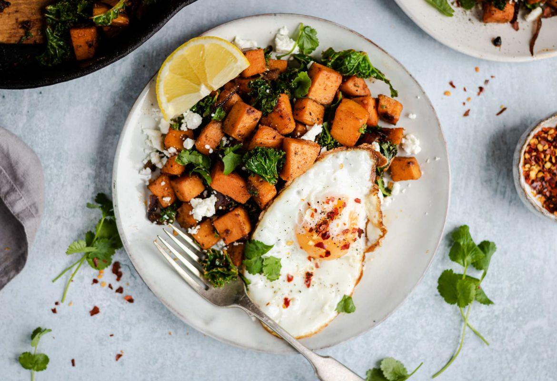 Sweet Potato Hash with Kale