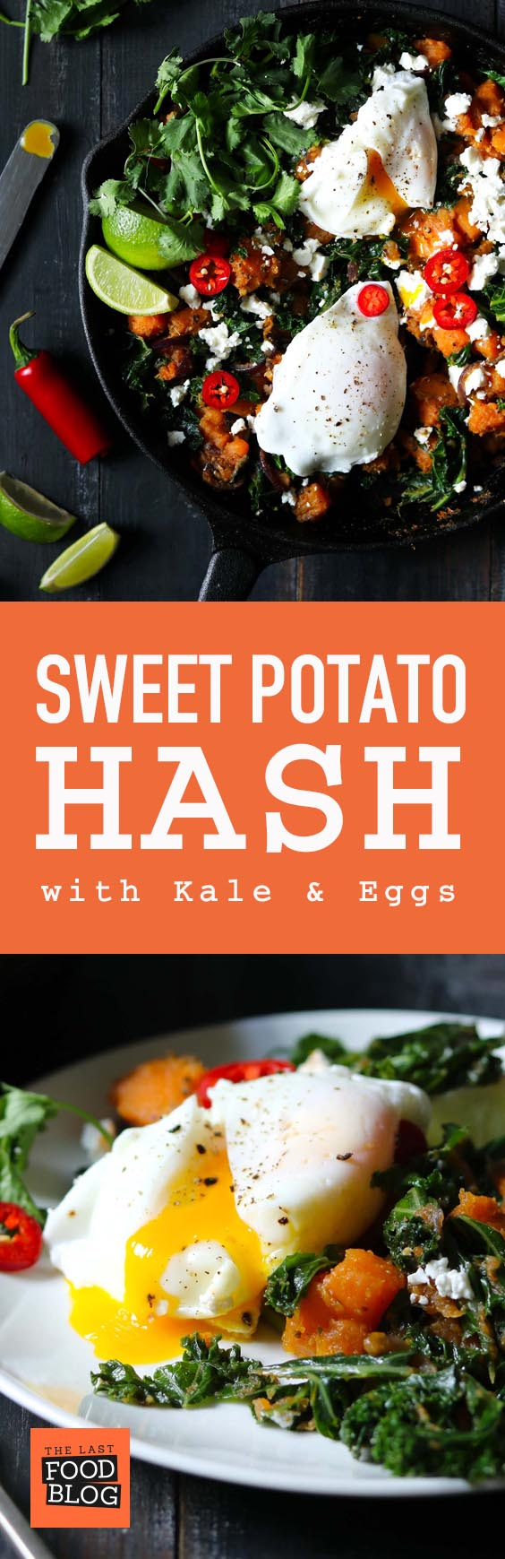 Sweet Potato Hash with Kale & Eggs - thelastfoodblog.com