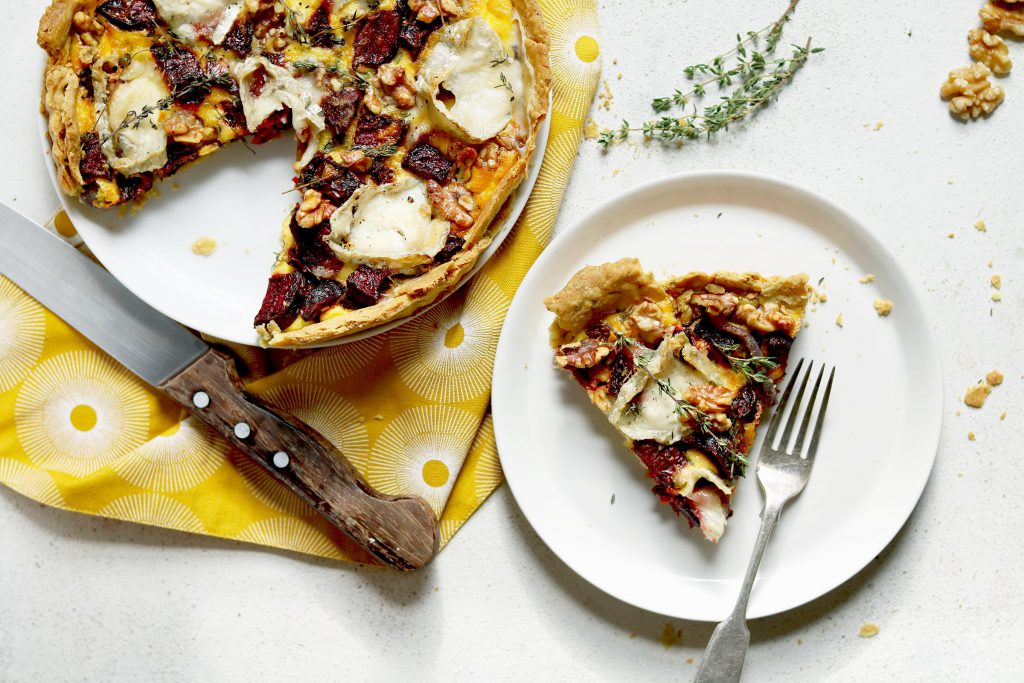 Beetroot & Goat's Cheese Tart