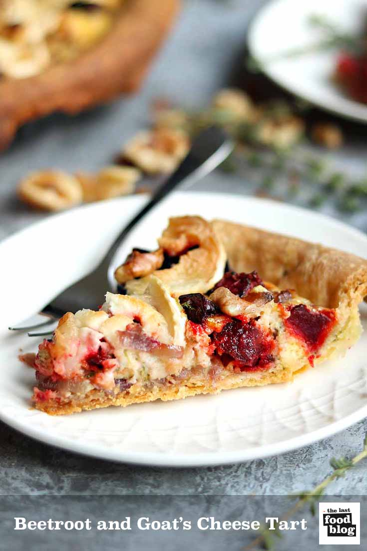 Roasted beetroot and goat's cheese tart