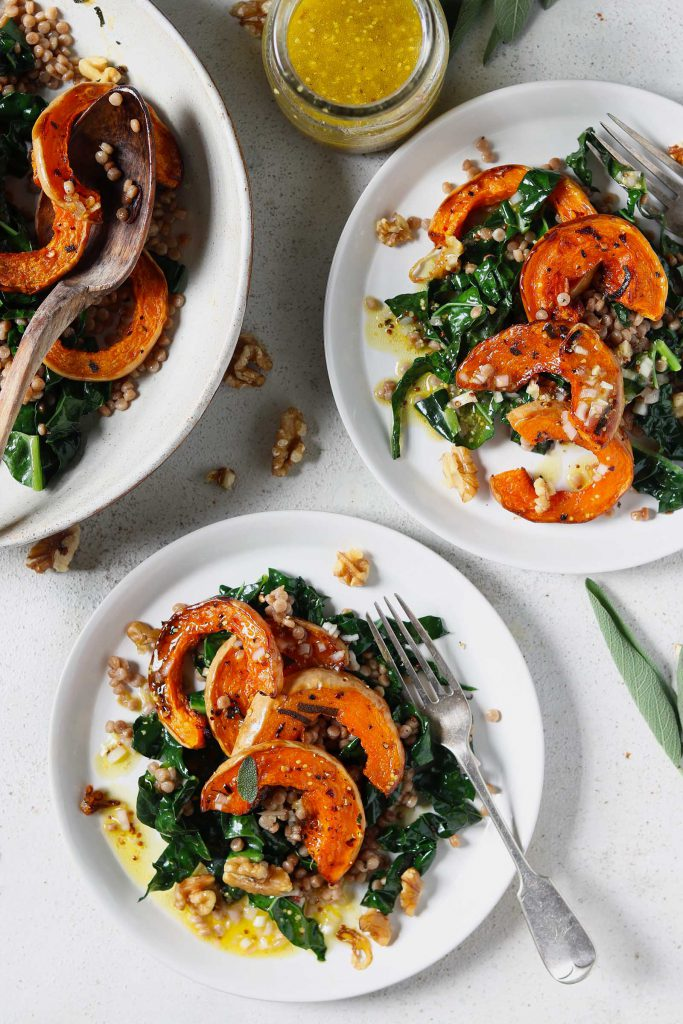 Roasted Butternut Squash with Sage & Walnuts