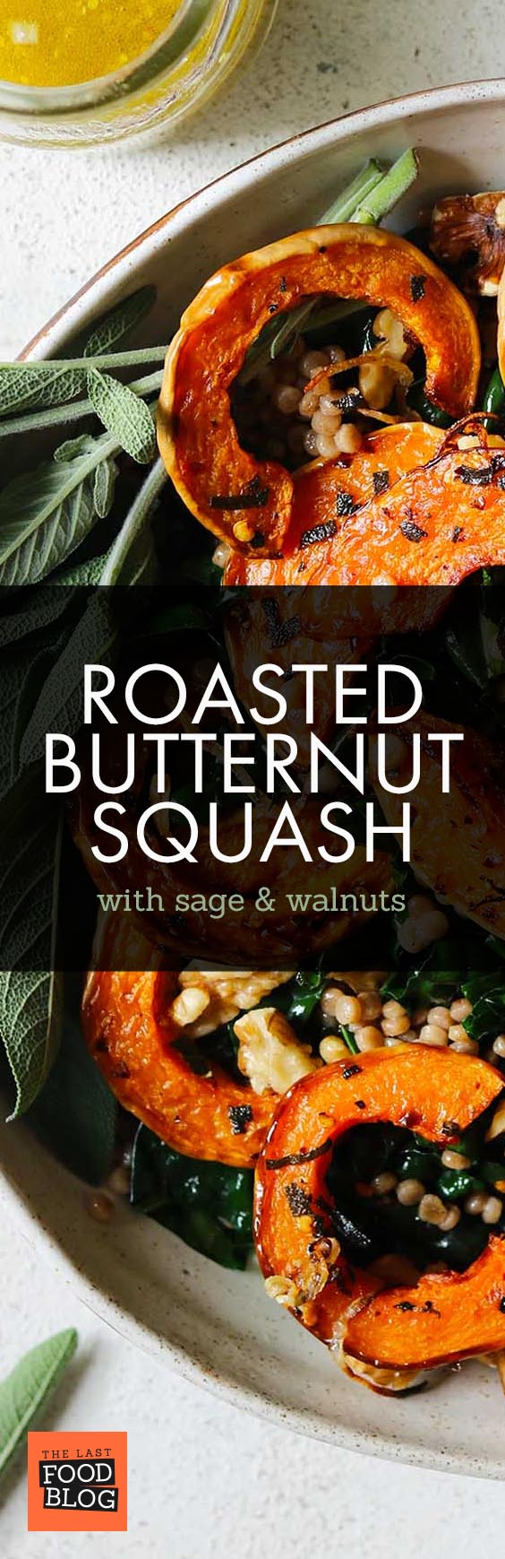 Roasted Butternut Squash with Sage & Walnuts - thelastfoodblog.com